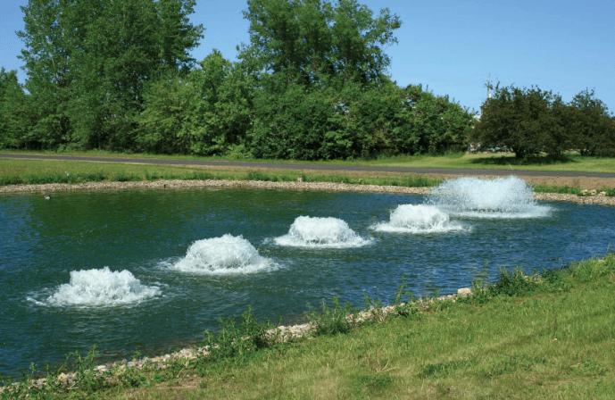 Донная аэрация пруда