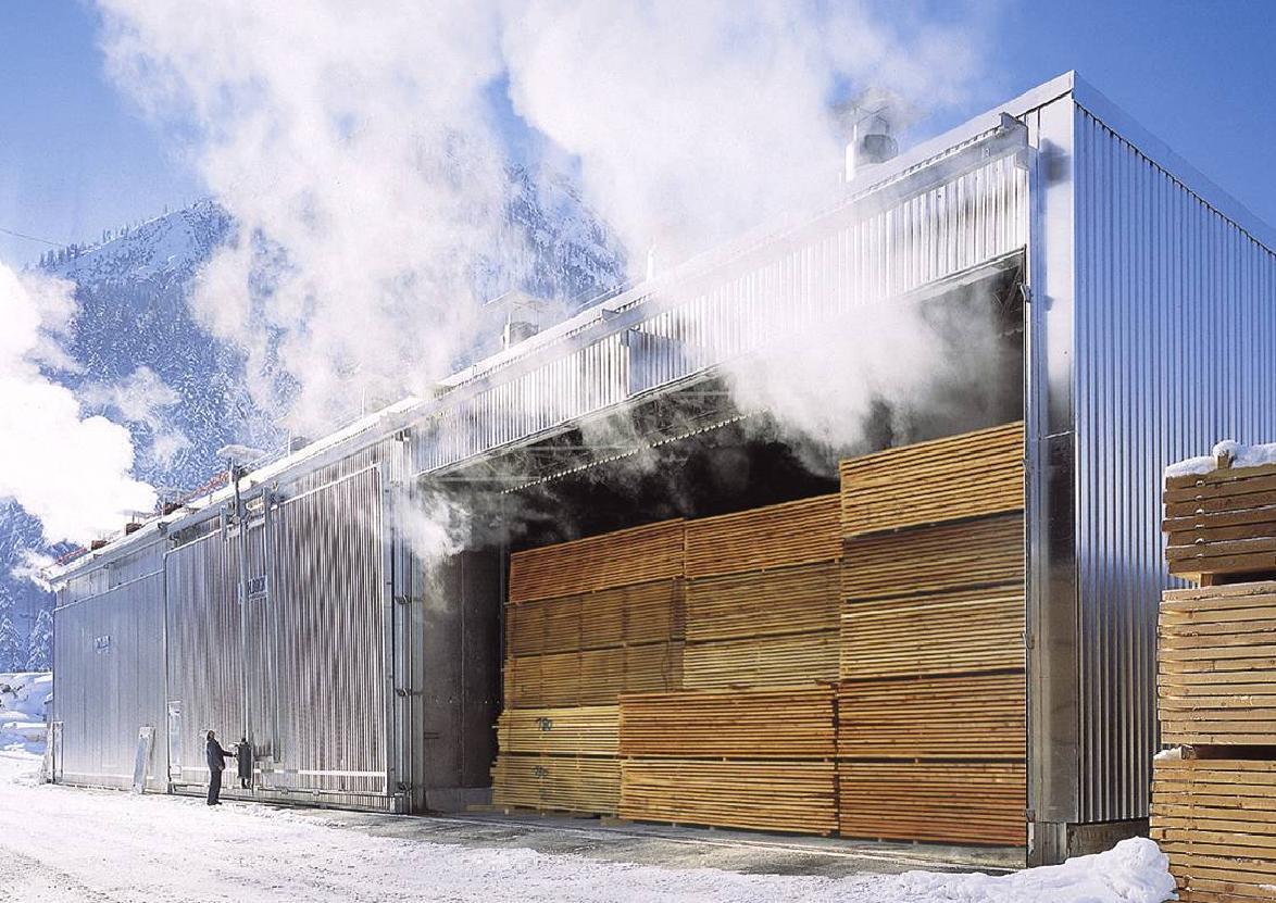 Промышленный сушильный цех для древесины