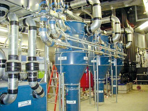 Установка вакуумной системы для уборки помещений от пыли и абразива