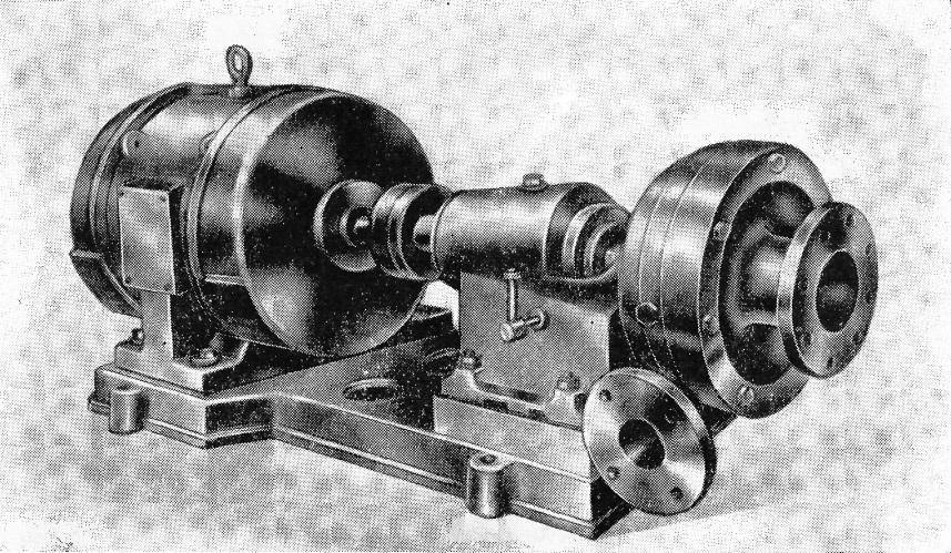 Один из первых вакуумных насосов